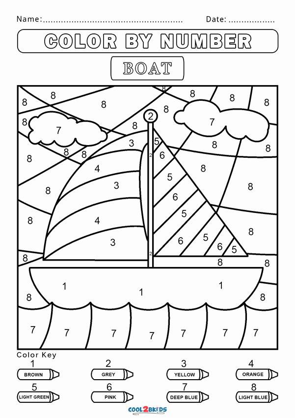 Color by Number Worksheets Kindergarten Elegant Free Color by Number Worksheets