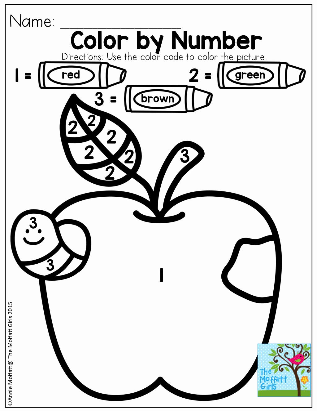 Color by Number Worksheets Kindergarten Inspirational Color by Number
