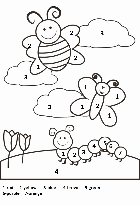 Color by Number Worksheets Kindergarten Luxury Crafts Actvities and Worksheets for Preschool toddler and