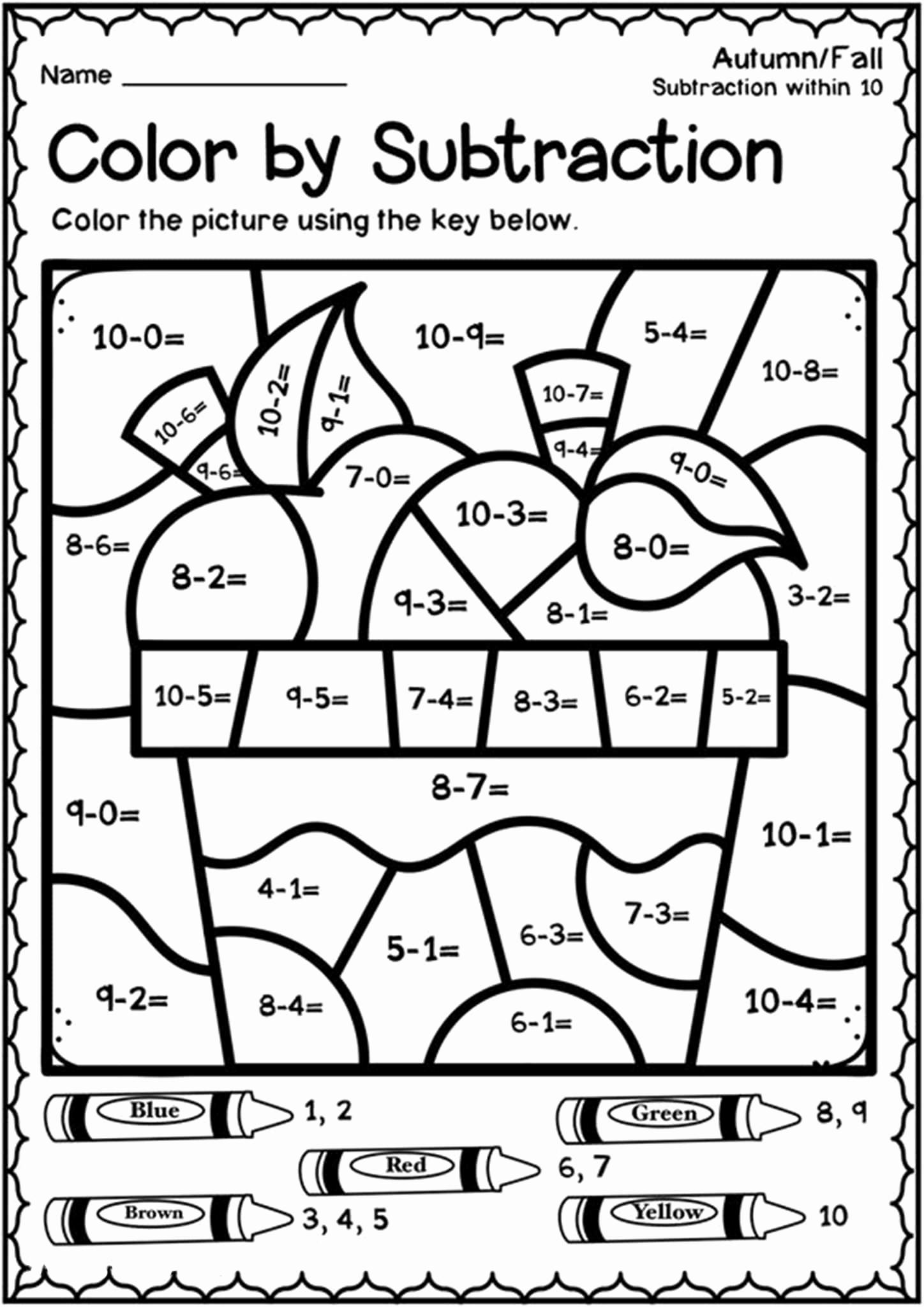 Color by Number Worksheets Kindergarten Luxury Free Printable Color by Number Worksheets for Kindergarten