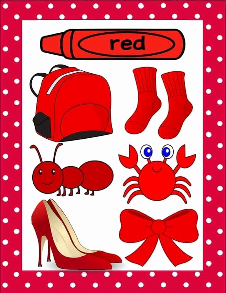 Color Red Worksheets for toddlers Awesome Pin by Make A Mess and Learn On Language