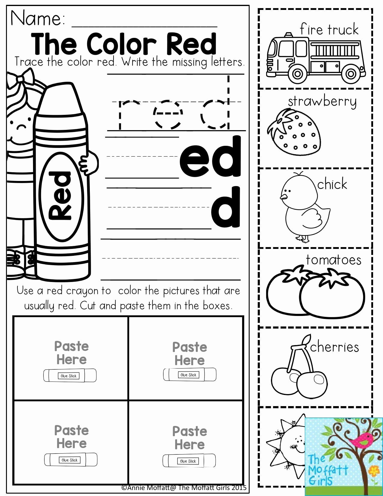 Color Red Worksheets for toddlers Awesome Pin On Preschool