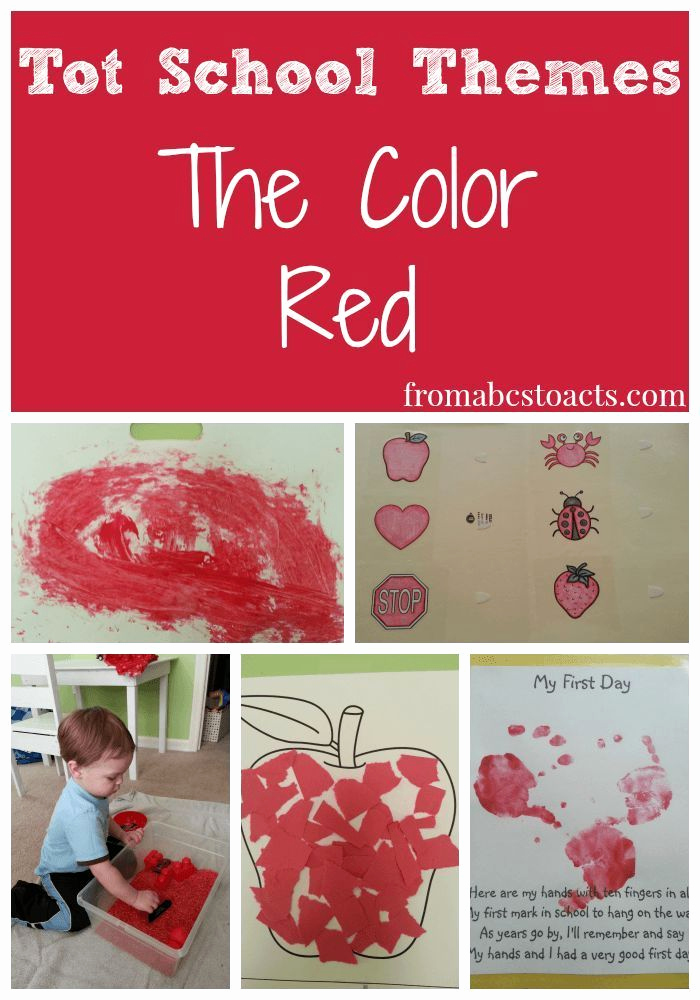 Color Red Worksheets for toddlers Beautiful tot School themes the Color Red
