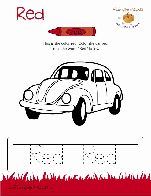 Color Red Worksheets for toddlers Elegant Check Out Our Worksheets for the Classroom and at Home