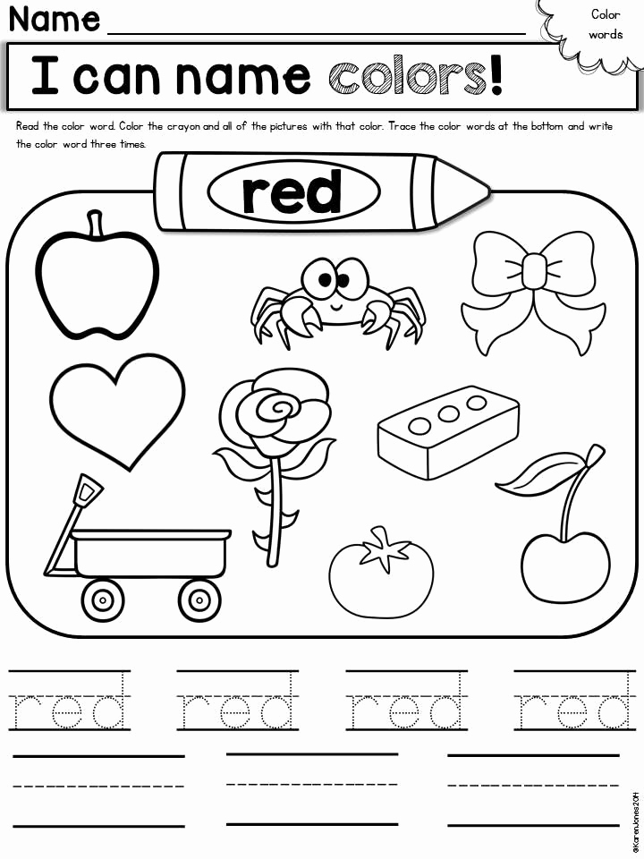 Color Red Worksheets for toddlers Fresh 10 Best Of Red Color Worksheets Printable Color
