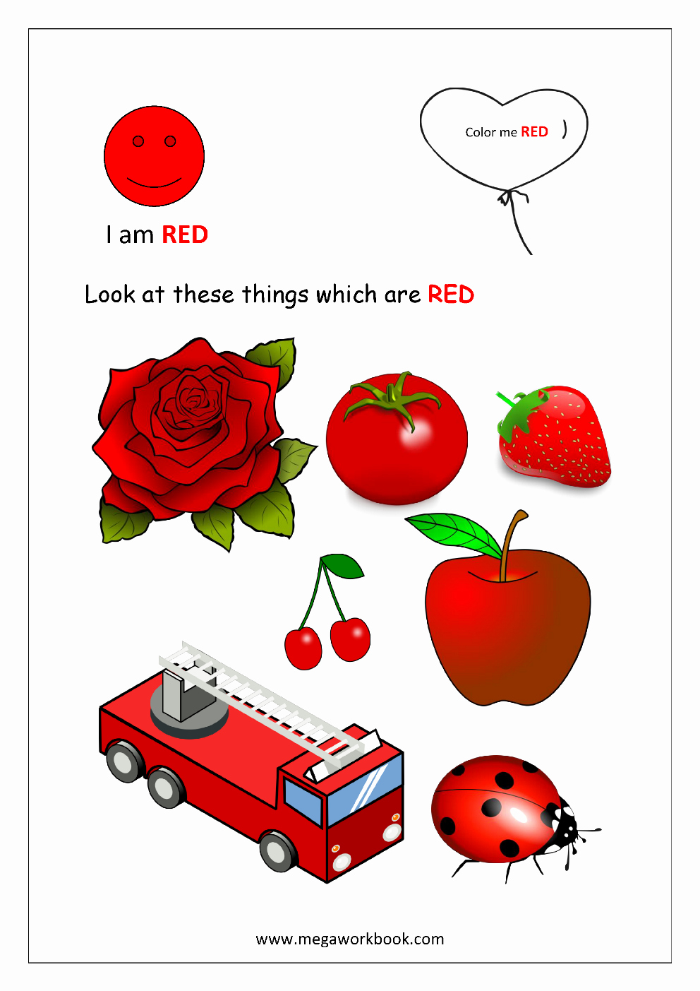 Color Red Worksheets for toddlers Inspirational Color Recognition Worksheets for Preschool Learn Basic