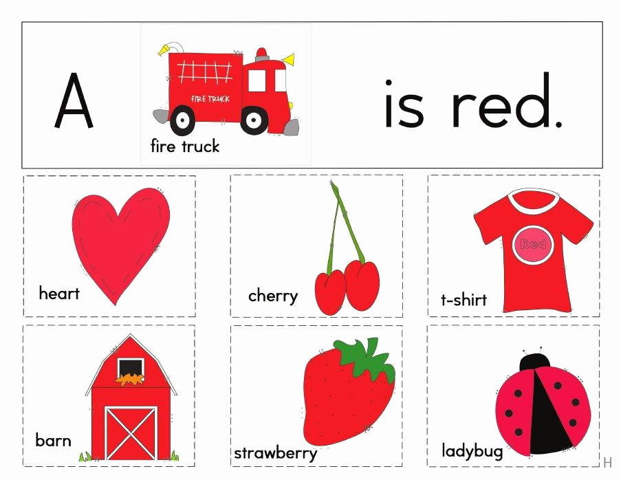 Color Red Worksheets for toddlers Inspirational Pin On Kids
