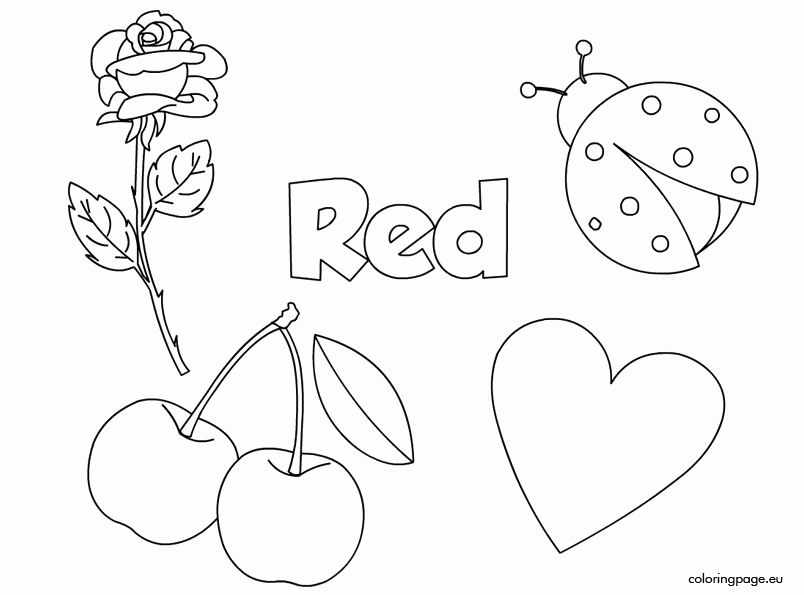 Color Red Worksheets for toddlers Lovely Red Color Activity Sheet