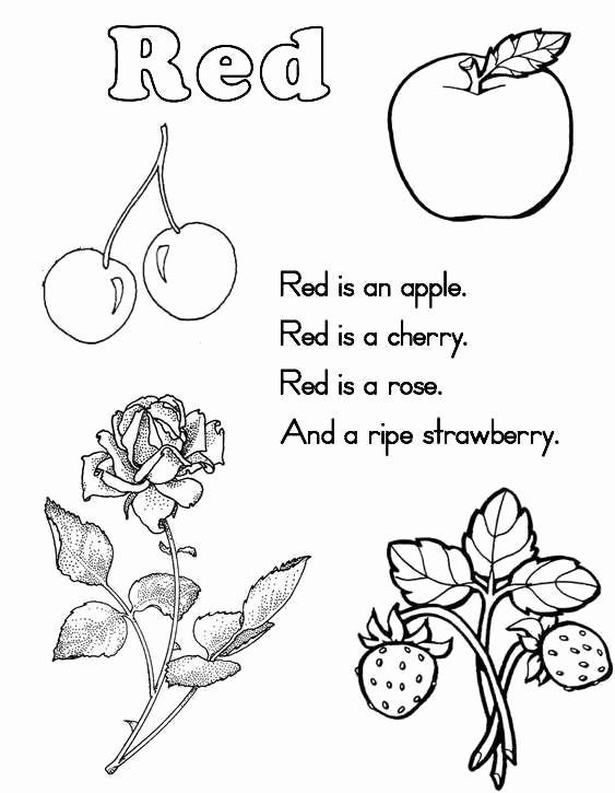 Color Red Worksheets for toddlers Luxury 10 Best Of Red Color Worksheets Printable Color