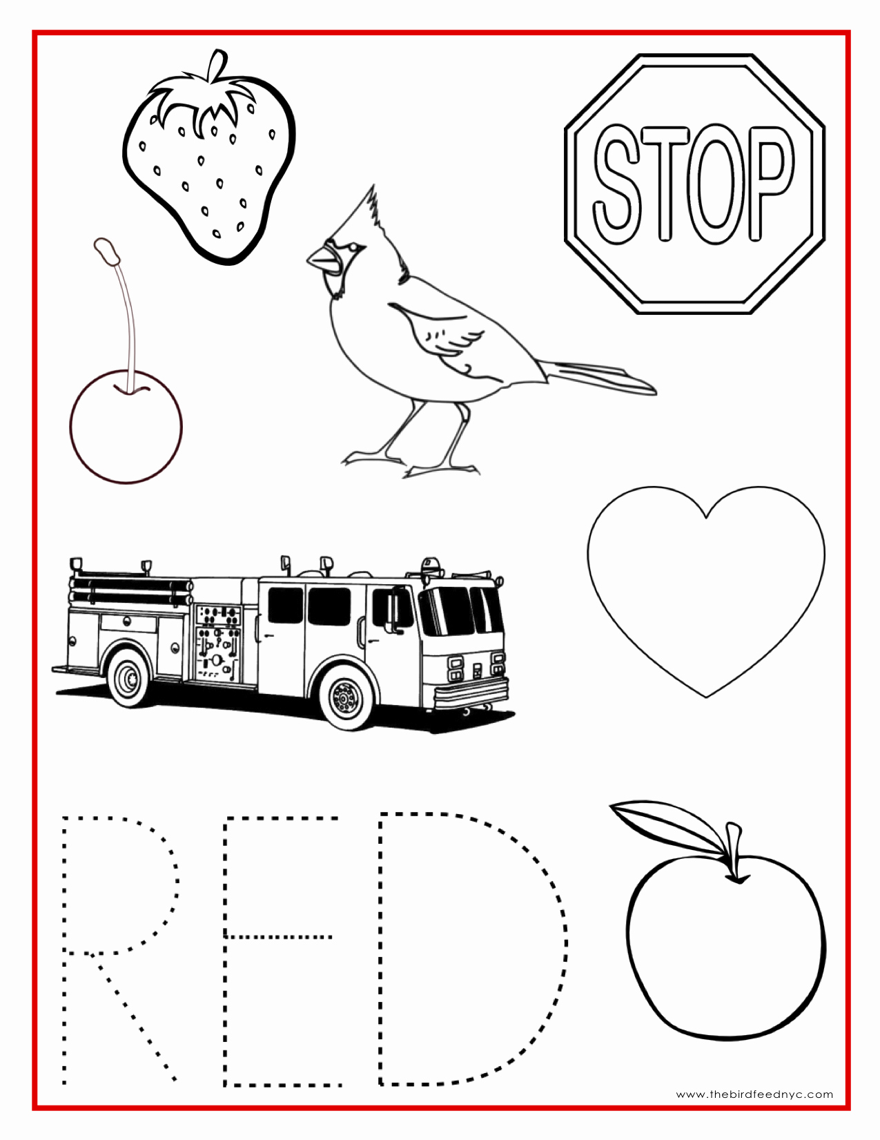 Color Red Worksheets for toddlers Unique Red Color Activity Sheet