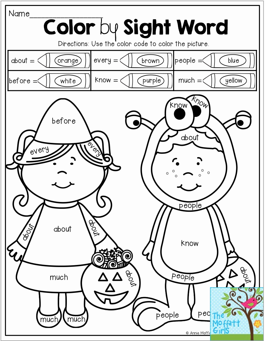 Color Sight Word Worksheets Awesome Color by Sight Word with 1st Grade Sight Words Children