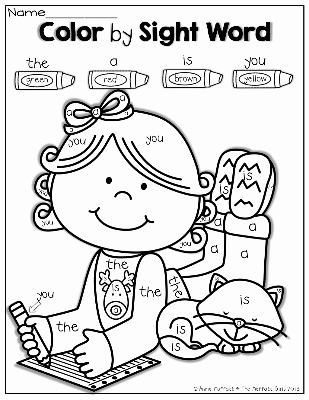 Color Sight Word Worksheets Beautiful Color by Sight Word