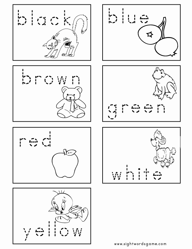 Color Sight Word Worksheets Fresh Color Worksheets Sight Words Reading Writing Spelling