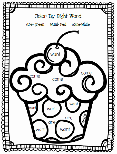 Color Sight Word Worksheets Inspirational 4 Best Of Color by Word Printables Color Sight