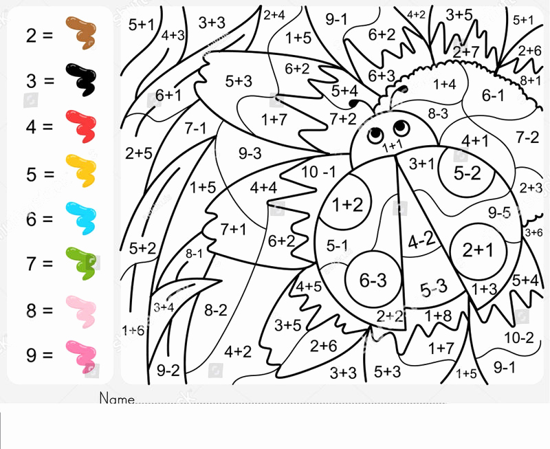 Coloring Addition Worksheet Awesome Addition and Subtraction Coloring Worksheets Pdf