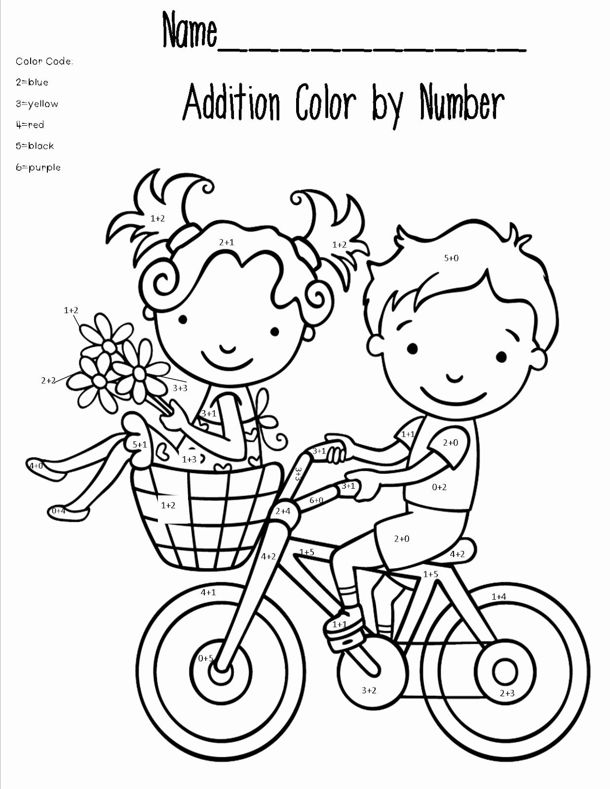 Coloring Addition Worksheet Elegant Free Printable Math Coloring Pages for Kids Best