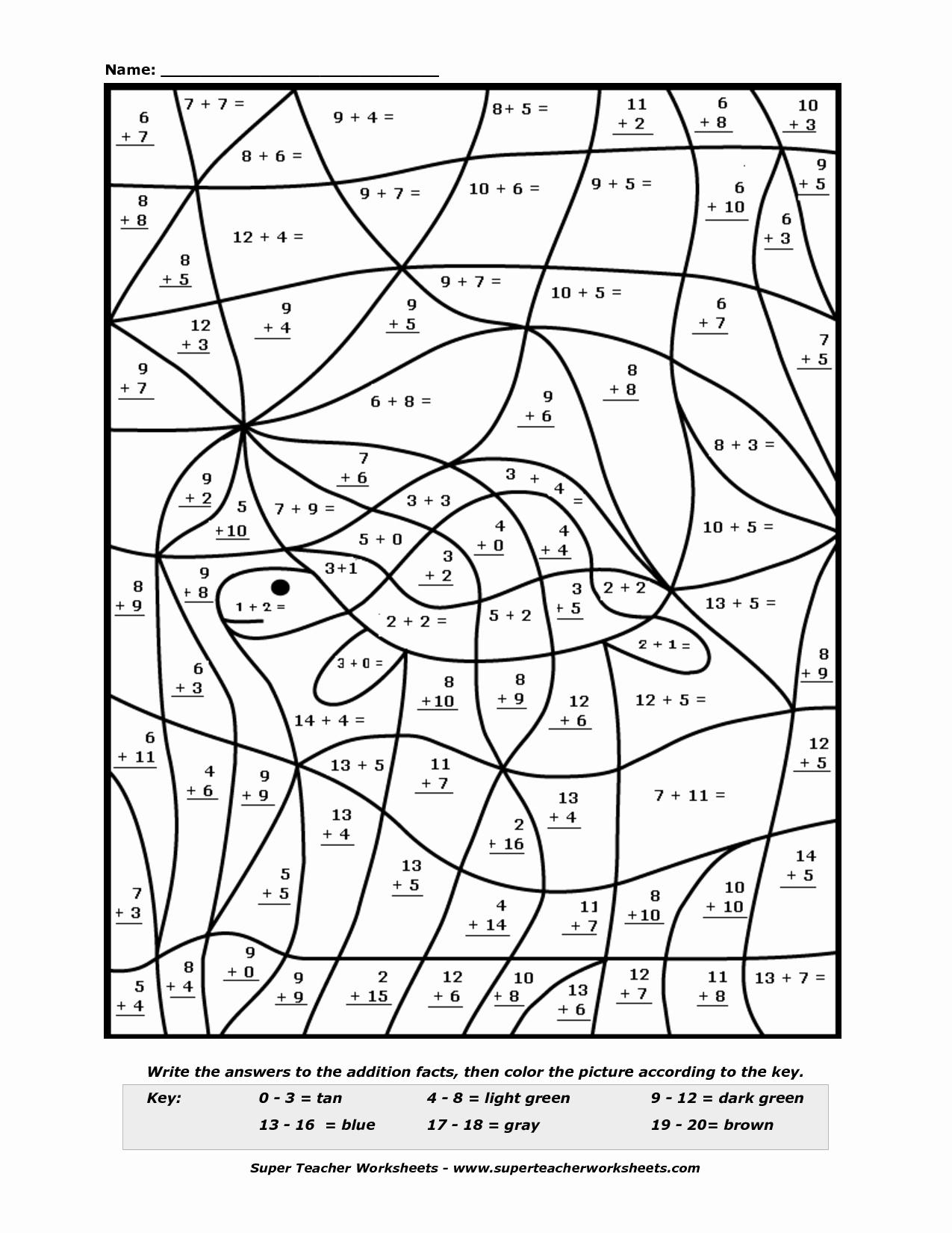 Coloring Addition Worksheet Fresh 15 Best Of Super Teacher Worksheets Coloring Pages