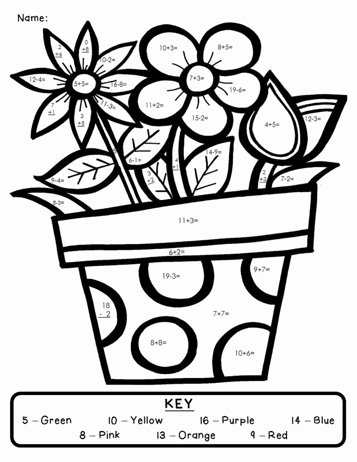 Coloring Addition Worksheet Inspirational Color by Number Addition Best Coloring Pages for Kids