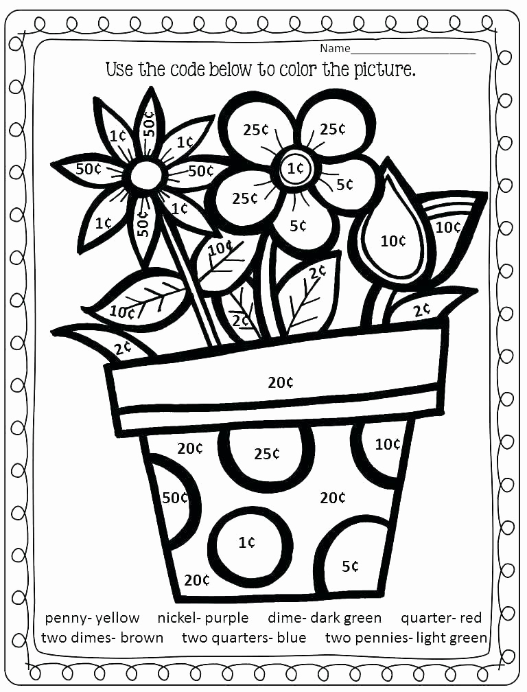 Coloring Math Worksheets 2nd Grade Beautiful Second Grade Coloring Pages at Getcolorings