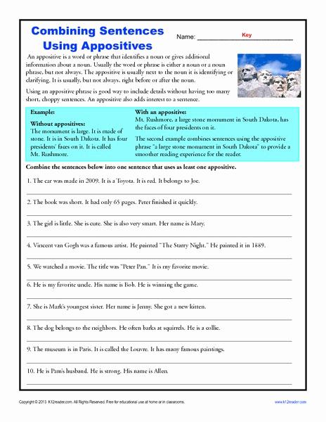Combining Sentences Worksheets 5th Grade Best Of 20 Bining Sentences Worksheet 5th Grade