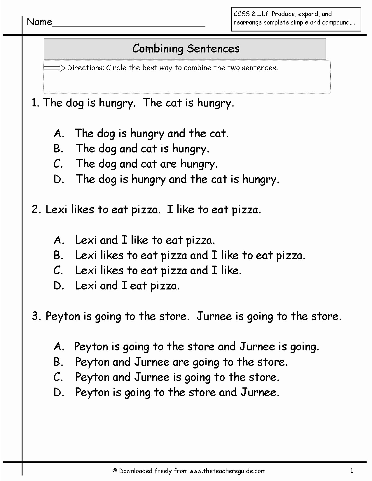 Combining Sentences Worksheets 5th Grade Fresh 20 Bining Sentences Worksheets 5th Grade