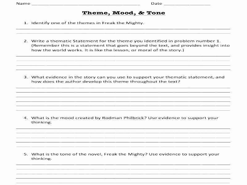 Comma Worksheet Middle School Pdf Unique 25 theme Worksheets Middle School Pdf