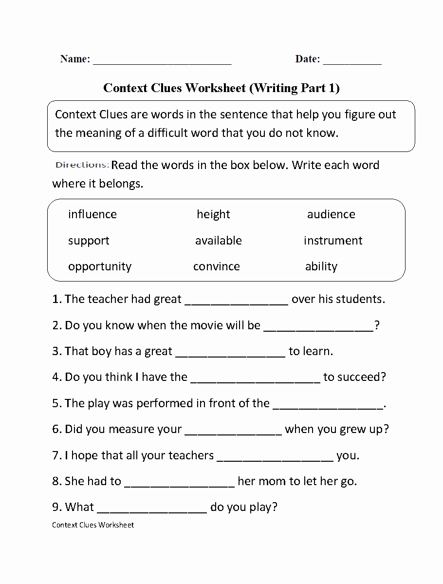 Comma Worksheet Middle School Pdf Unique Englishlinx Clauses Worksheets