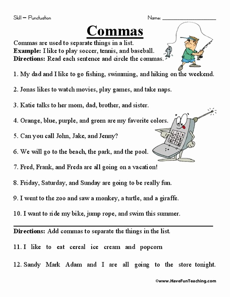 Commas Worksheet 4th Grade Awesome 20 Mas Worksheet 4th Grade