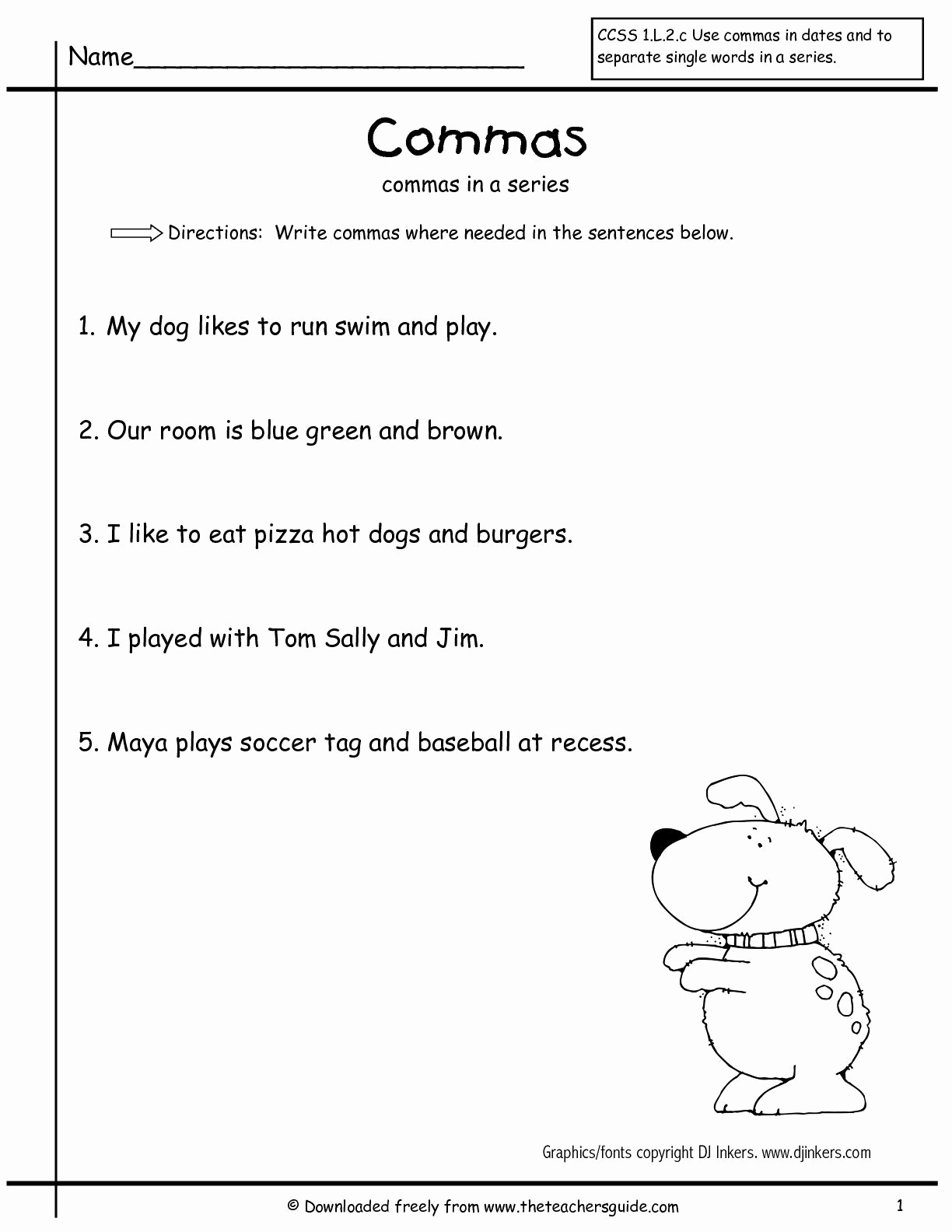 Commas Worksheet 4th Grade Elegant 20 Mas Worksheet 4th Grade