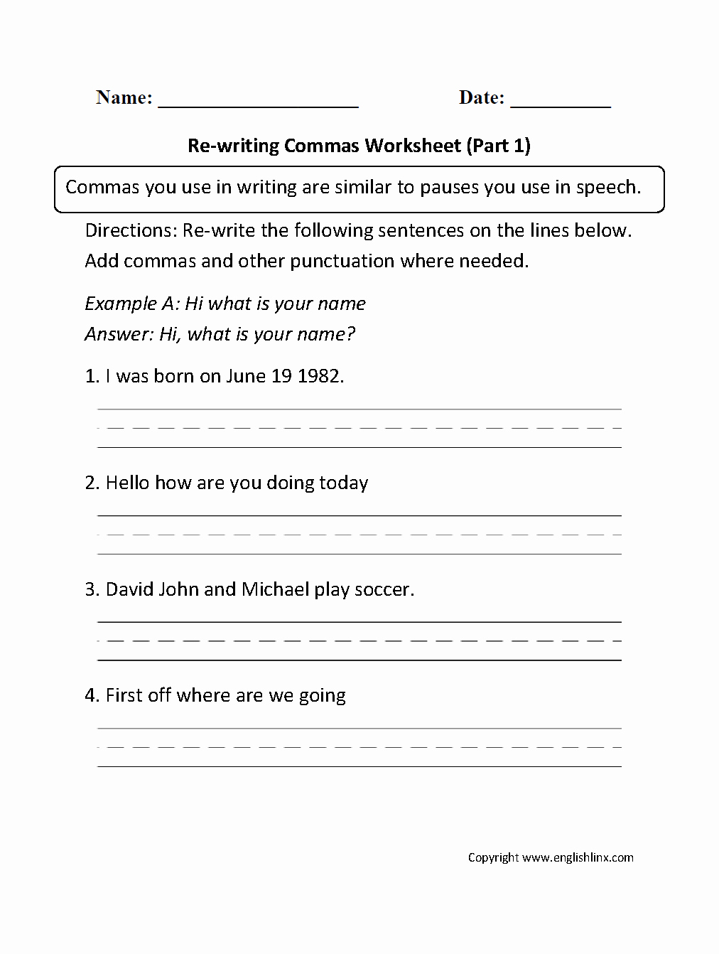 Commas Worksheet 4th Grade Elegant Mas Worksheets