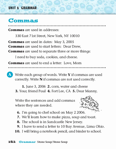 Commas Worksheet 4th Grade Fresh Mas Worksheet for 4th 5th Grade