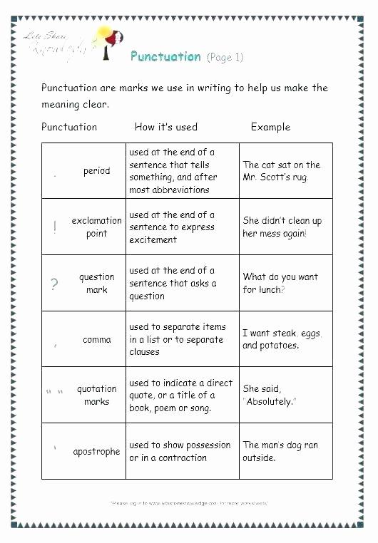 Commas Worksheet 5th Grade Beautiful Mas Worksheets 5th Grade Punctuation Worksheets for