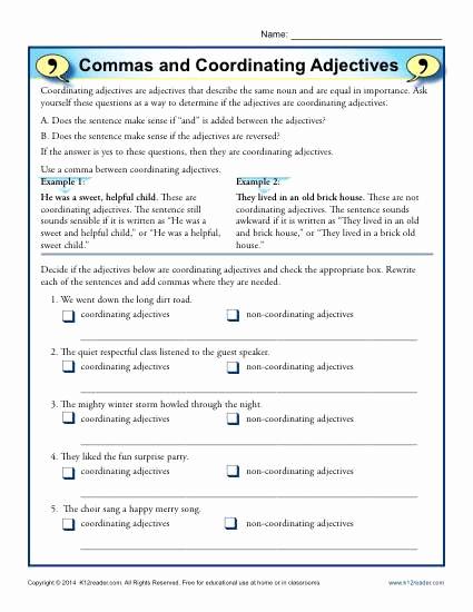 Commas Worksheet 5th Grade Best Of 20 Mas Worksheet 5th Grade