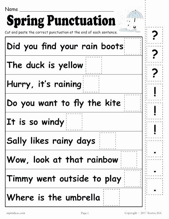 Commas Worksheet 5th Grade Fresh Mas Worksheets 5th Grade Free Punctuation Worksheets