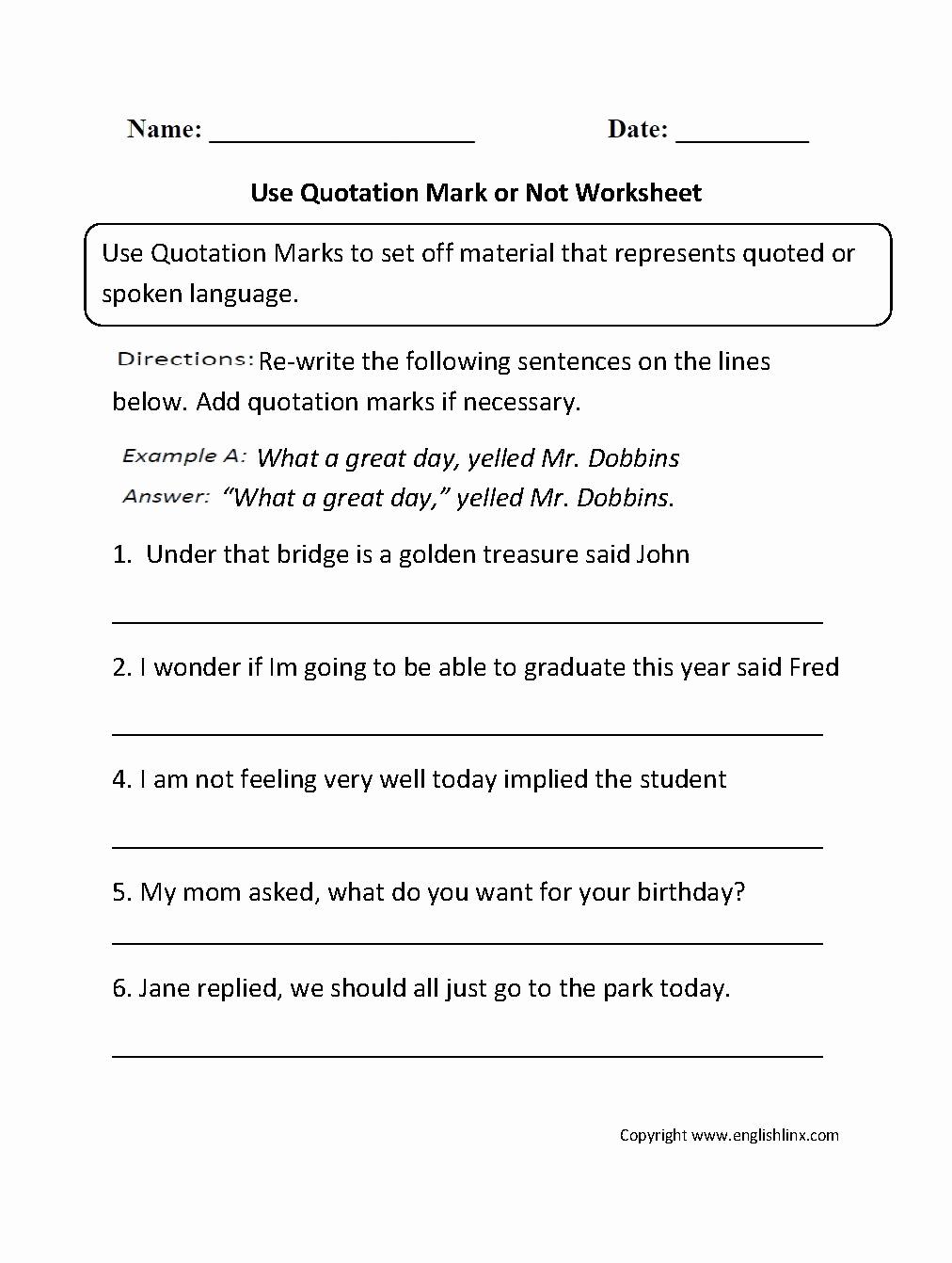 Commas Worksheet 5th Grade Luxury 4 Worksheet Free Grammar Worksheets Fifth Grade 5