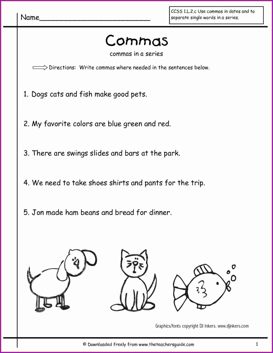 Commas Worksheet 5th Grade Luxury 5th Grade Worksheet Mas Worksheet Resume Examples