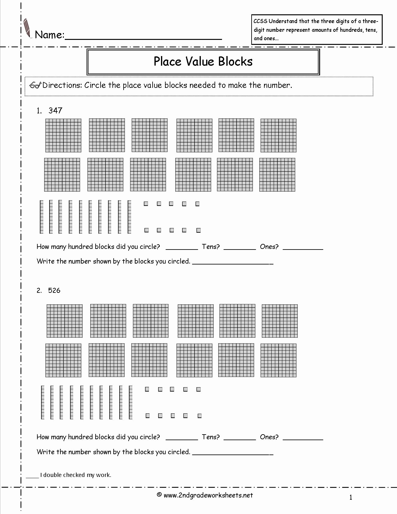 Common Core Worksheets Place Value Awesome 2nd Grade Math Mon Core State Standards Worksheets
