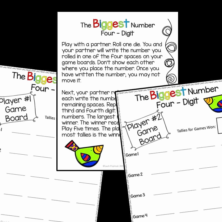 Common Core Worksheets Place Value Inspirational Place Value Activities Third Grade Mon Core Centers