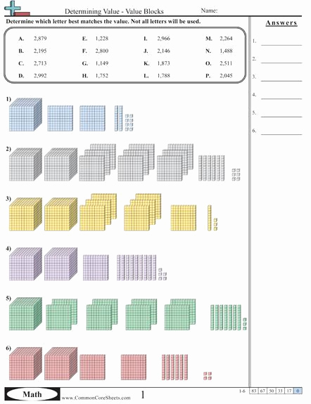 Common Core Worksheets Place Value Lovely Mon Core Sheets Value & Place Value Worksheets and All