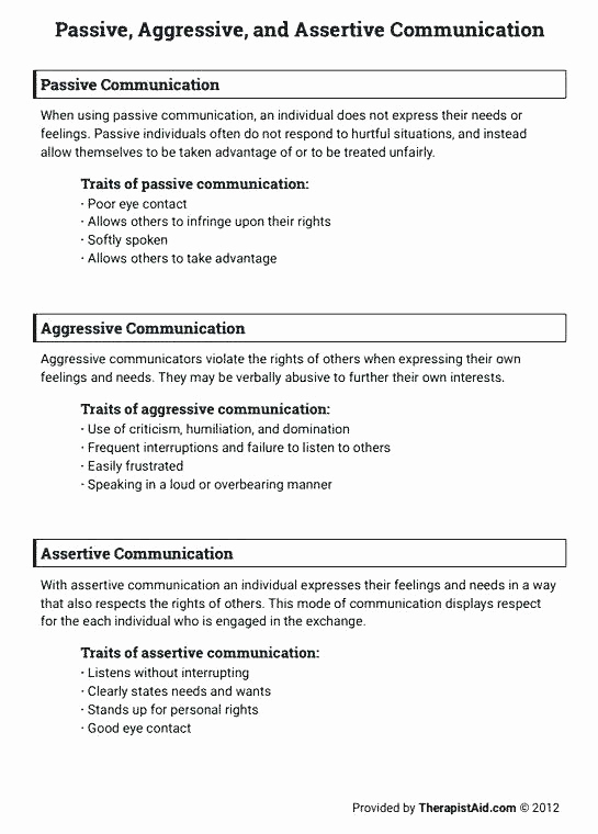 Communication Worksheets for Adults Lovely Munication Skills Worksheets for Adults