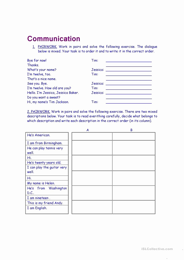 Communication Worksheets for Adults Luxury Munication Worksheets for Adults