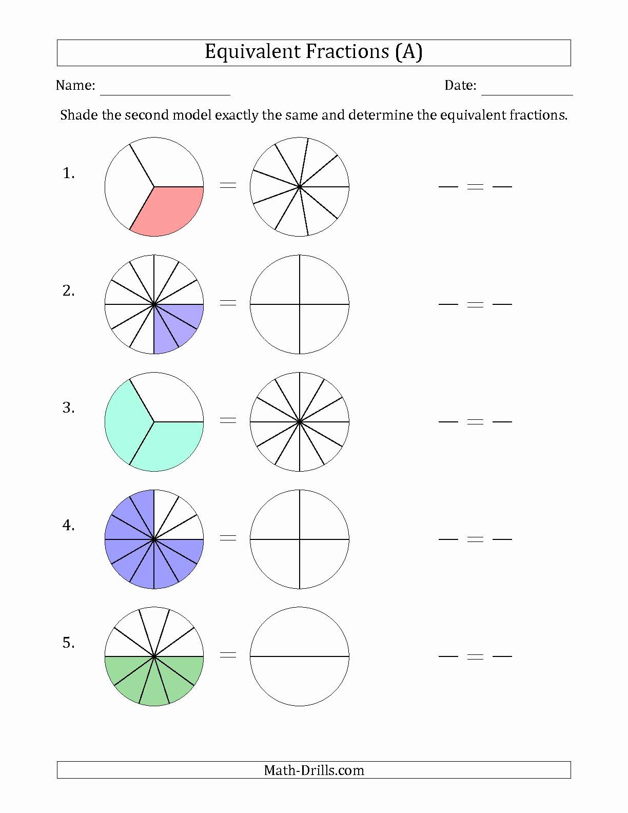Comparing Fractions Third Grade Worksheet Beautiful Worksheet Equivalent Fractions Worksheets 3rd Grade