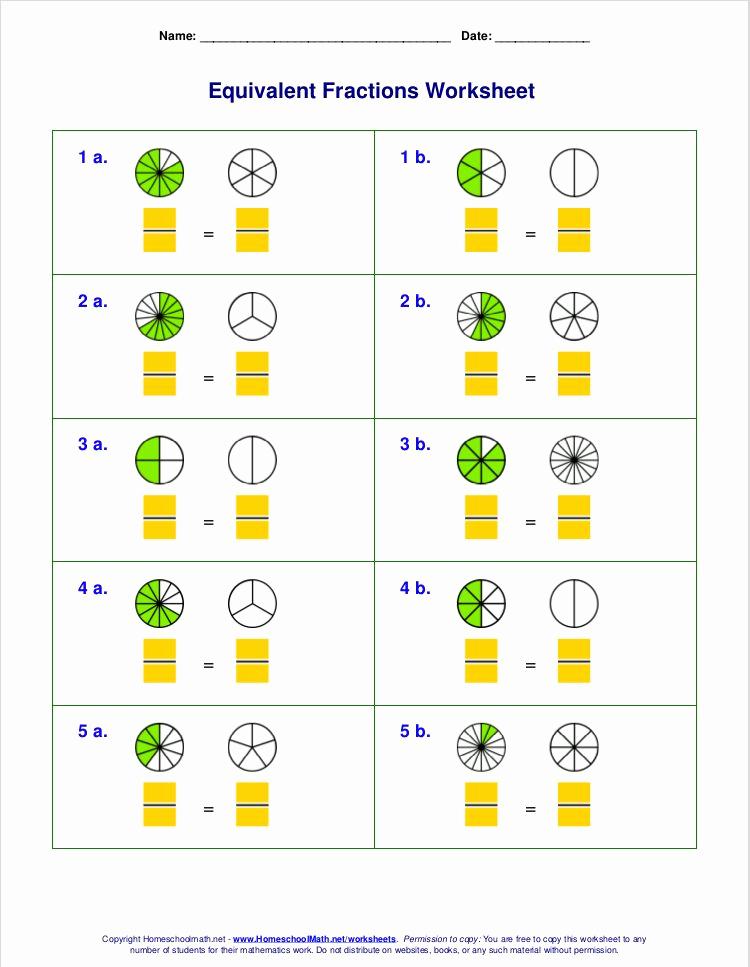 Comparing Fractions Third Grade Worksheet Inspirational 3rd Grade Equivalent Fractions Worksheet Pdf