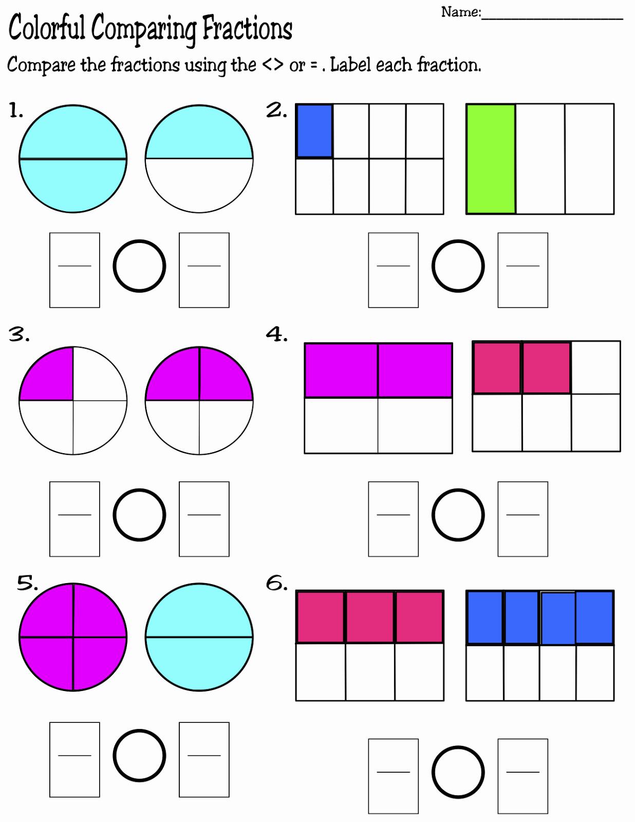 Comparing Fractions Third Grade Worksheet Luxury Teaching Mrs T Super Sunday Sale