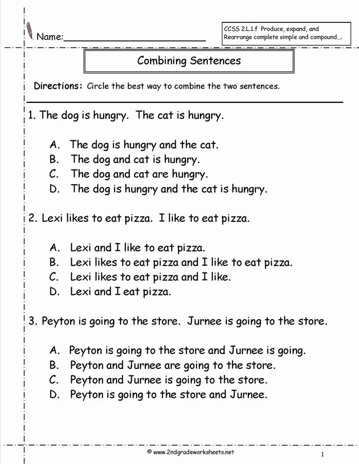 Complex Sentence Worksheets 3rd Grade Unique Simple Sentences Worksheet 3rd Grade Finding the Subject A