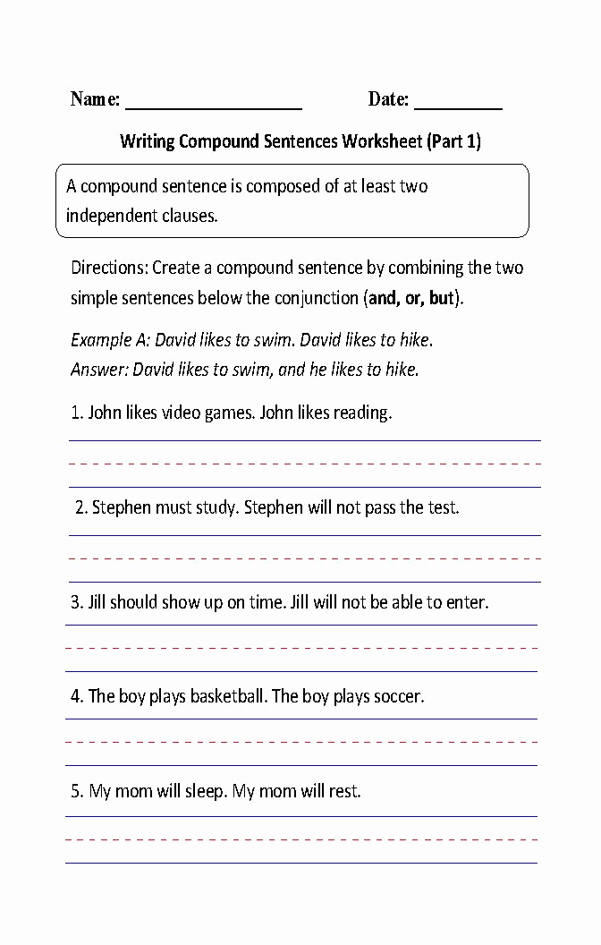 Complex Sentence Worksheets 4th Grade Best Of 32 Pound Sentences Worksheet 4th Grade Ekerekizul