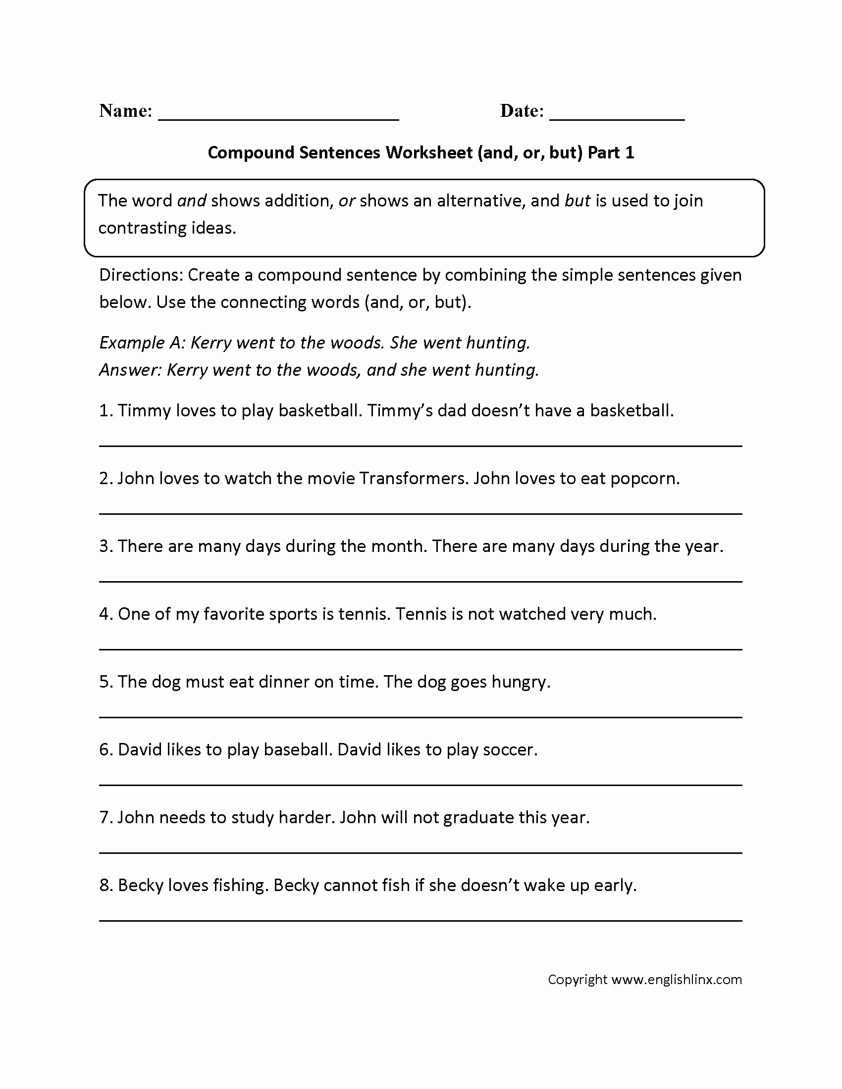 Complex Sentence Worksheets 4th Grade Fresh Bining Sentences 4th Grade Worksheets — Excelguider