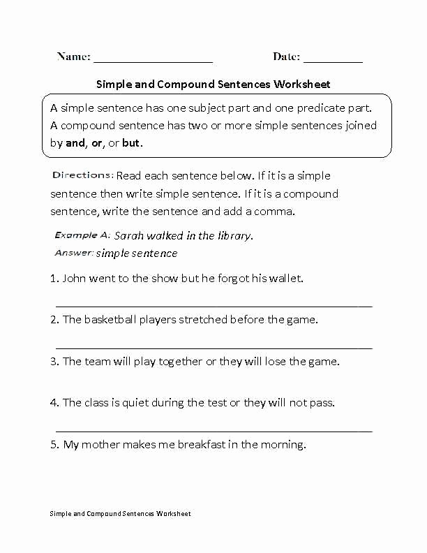 Complex Sentence Worksheets 4th Grade Fresh Bining Sentences 4th Grade Worksheets In 2020