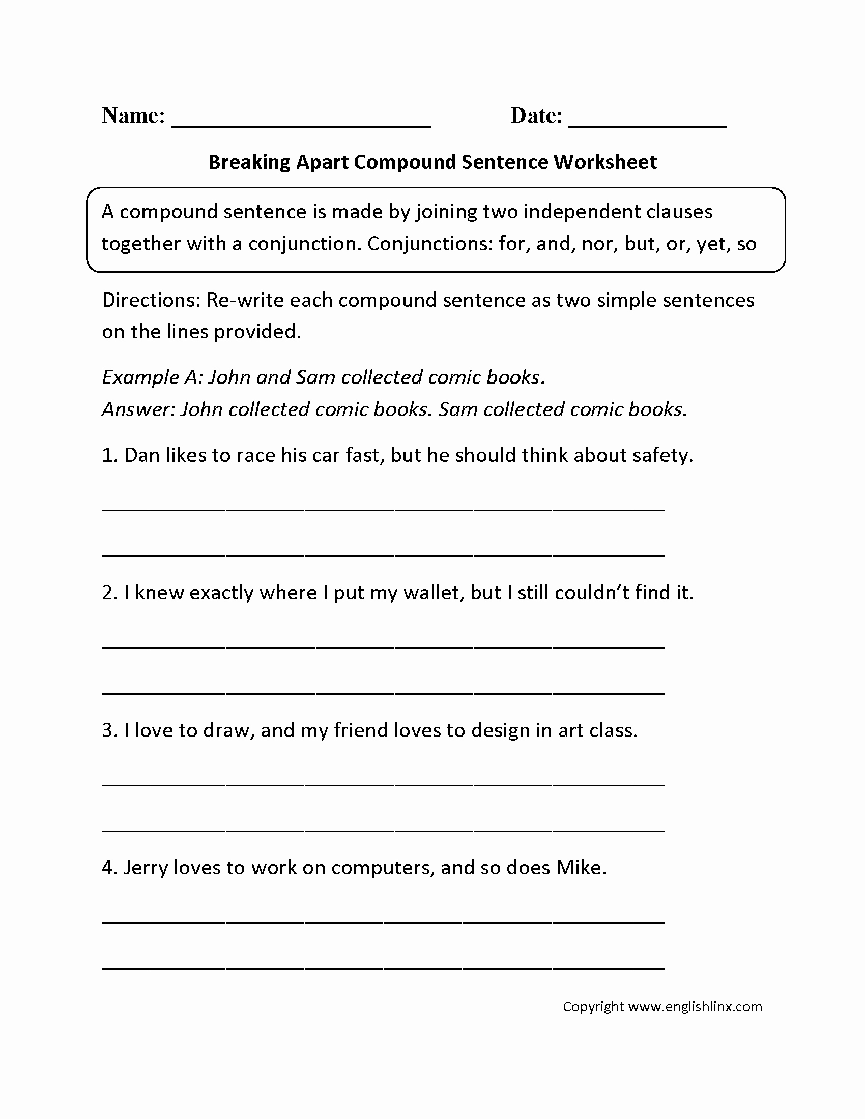 Complex Sentence Worksheets 4th Grade Luxury 32 Pound Sentences Worksheet 4th Grade Ekerekizul