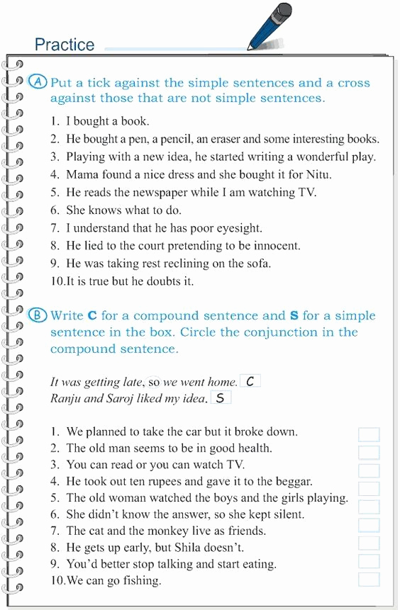 Complex Sentences Worksheets with Answers Lovely Pin On Customize Design Worksheet Line